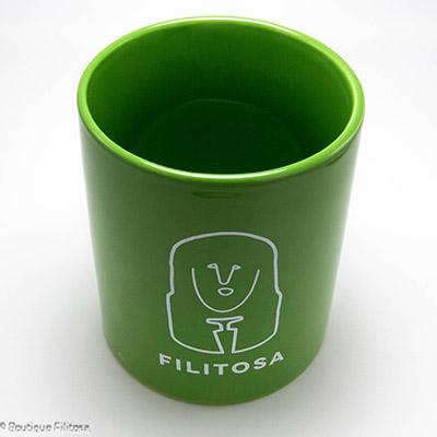 MUG vert Filitosa XIII face haut